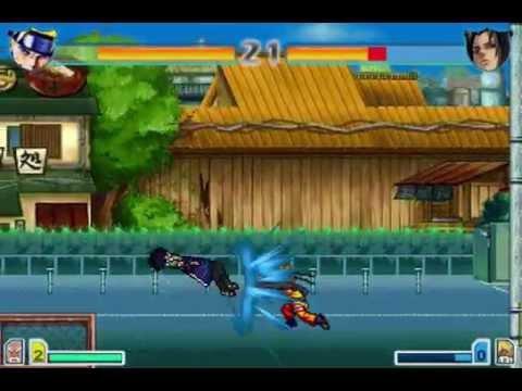 Наруто против Саске драка (Bleach Vs Naruto 3)