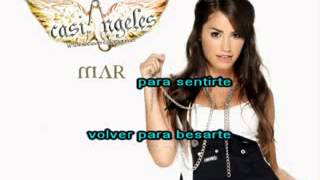 casi angeles mar) me voy karaoke con letra [official music]