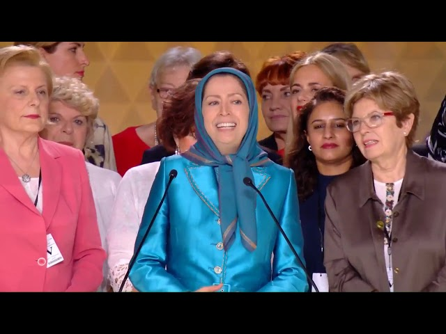 Maryam Rajavi with women's Board of Directors