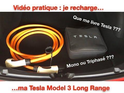 Je recharge ma Tesla Model 3 à la maison