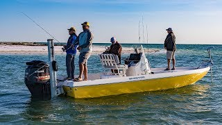 New Port Richey Fishing the Flats for Redfish and Sharks - 4K