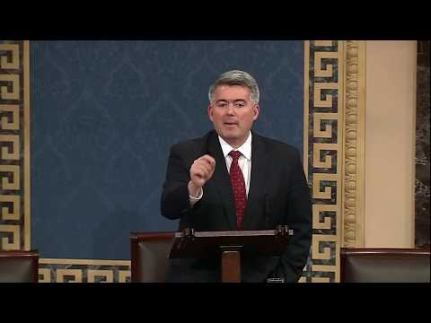 RAW: Sen. Cory Gardner (R-CO) delivers speech on government shutdown