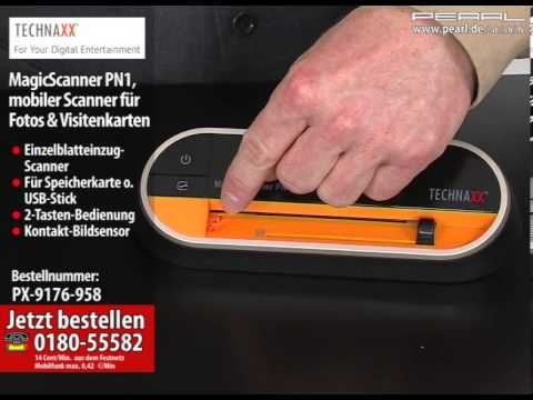 Technaxx Magicscanner Pn1 Mobiler Scanner Für Fotos Visitenkarten