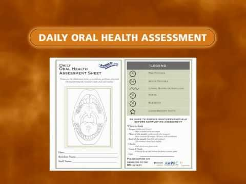 Oral Health Assessment - The Daily Oral Health Asessment Form