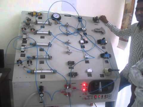 PLC Based Electro Pneumatic Training Kit At VK Edutech,Pune