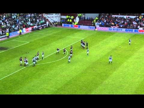 Brilliant Leigh Griffiths Goal, Hearts 1-2 Hibernian, 12/05/2013