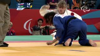 Judo - RUS versus BRA - Women -48 kg  Bronze Medal Contest - London 2012 Paralympic Games