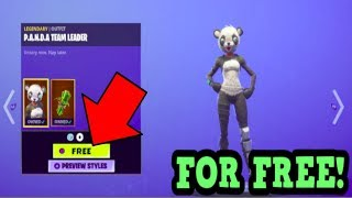 HOW TO GET PANDA TEAM LEADER SKIN FOR FREE! (Fortnite Old Skins)