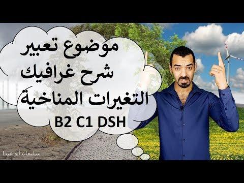 الدرس السادس B2 C1 DSH TestDaF Grafikbeschreibung Suliman Abu Ghaida مواضيع B2 C1 التغيرات المناخية