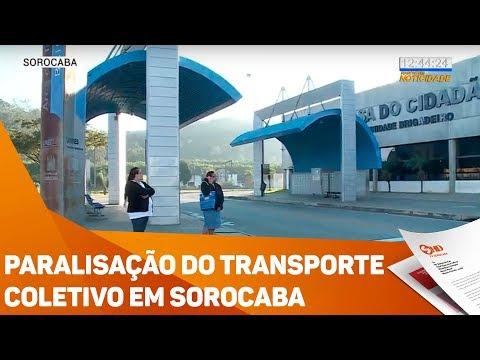 Paralisação do transporte coletivo em Sorocaba - TV SOROCABA/SBT