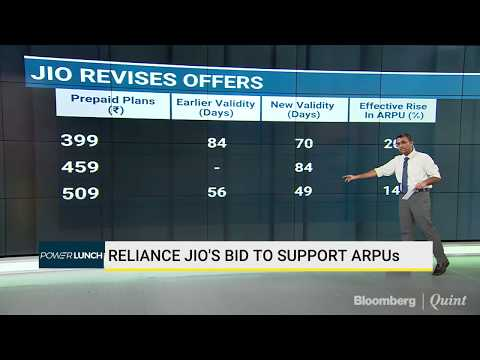 Jio's Tariff Revision = Cheer For Rival Telcos