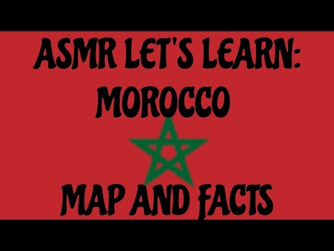 ASMR Map of Morocco 🇲🇦 in English, French & Arabic
