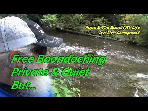 lyre-river-campground,-wa.-free-boondocking,-olympic-peninsula,-secluded,-riverside