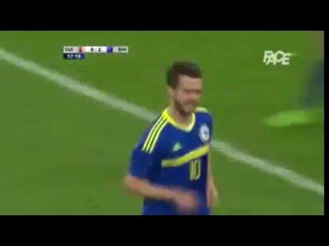 Švicarska vs Bosna ( Švc 0 : 2  BiH ) Miralem Pjanic iz slobodnog udarca