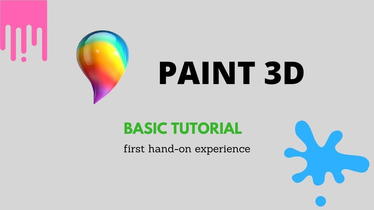 Phương pháp dùng Paint 3D Trên Win 10 Cho Người thế hệ khởi đầu