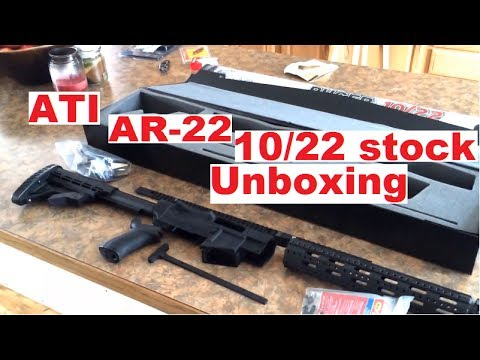 the new ati ar 22 ruger 10 22 tactical stock youtube