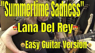 summertime sadness- lana del rey - easy guitar tutorial