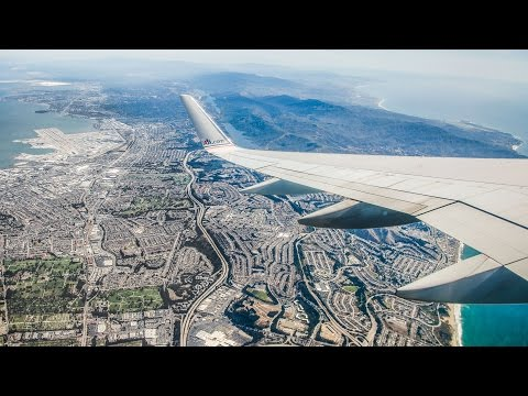 San Francisco to Los Angeles in 100 seconds | Full Flight TIME LAPSE | American Airlines Boeing 757