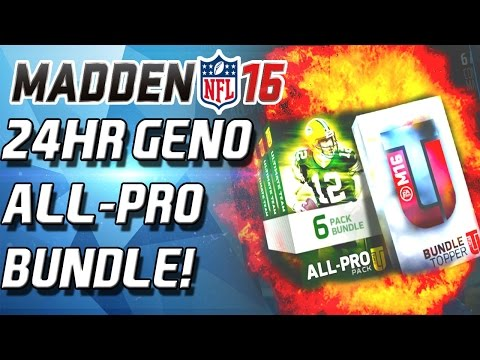 Madden 16 Ultimate Team - 24HR GENO ATKINS! ALL-PRO BUNDLE! - MUT 16