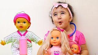 Celina and her Barbie Toys - سيلينا وحسونة العاب للاطفال
