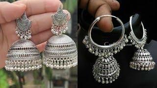 Silver Earrings Designs 2020//latest silver earrings