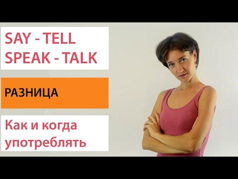 Say Tell Speak Talk. Разница, употребление. Английская лексика