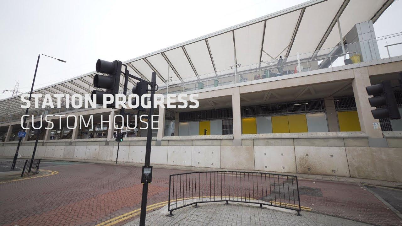 Station Progress Custom House February 2020 Youtube