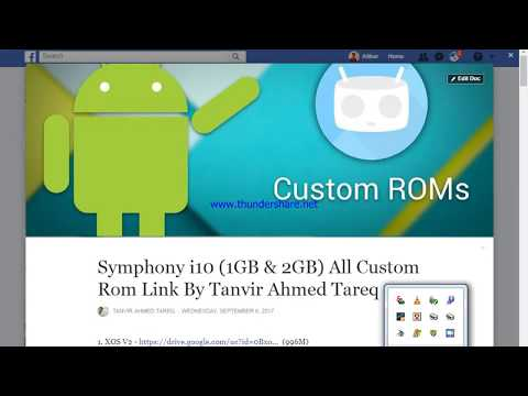 Symphony i10 and symphony p7 all trusted custom rom download - YouTube