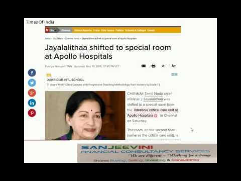 Jayalalitha latest news