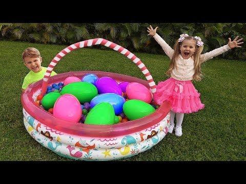 Diana E Os Ovos Gigantes De Brinquedo Com Surpresa