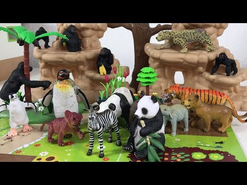 Wild Animals Toys Names & Sounds For Kids Children Toddlers - Fun Animals Find Mom   Nursery Rhymes