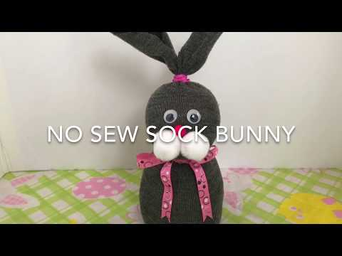 No Sew Sock Bunny (Easter Craft)