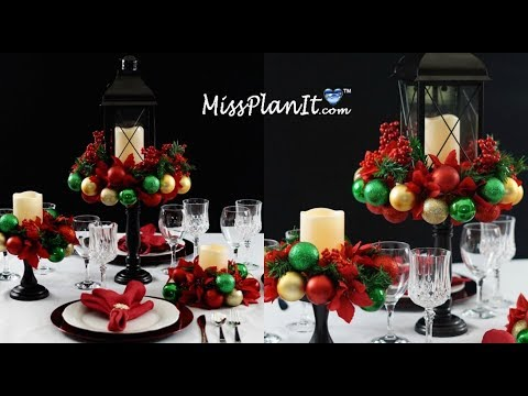 DIY Holiday Ornament  Table Centerpiece Under $50! | DIY Christmas |  DIY Christmas Tutorial