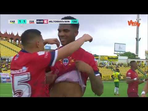 Real Cartagena vs. Fortaleza (2-2) - Torneo Aguila 2019-II - Cuadrangulares Fecha 4