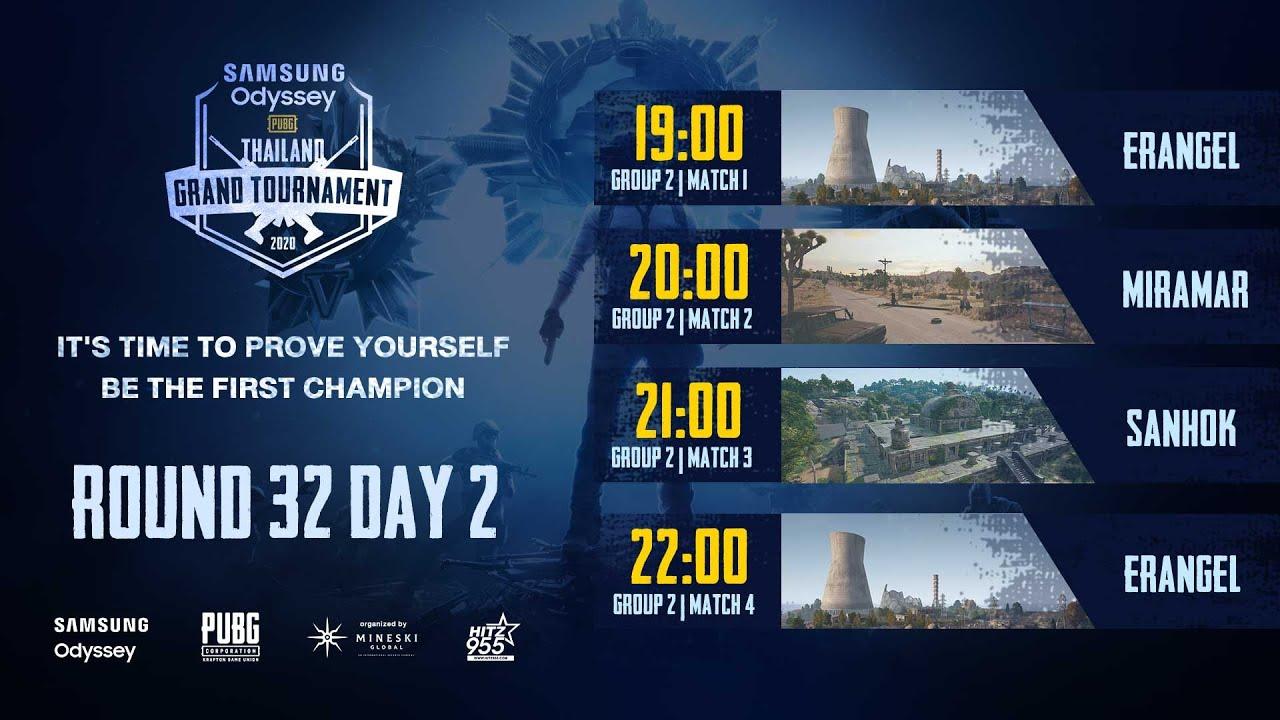 แข่งพับจี SAMSUNG Odyssey PUBG Thailand Grand Tournament 2020 รอบ 32 Day 2