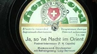 Homocord Orchester - Ja so ne Nacht im Orient