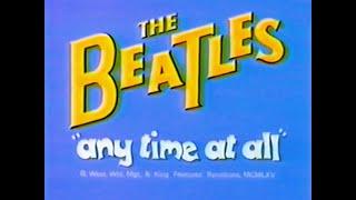 """ANY TIME AT ALL"" BEATLES CARTOON."