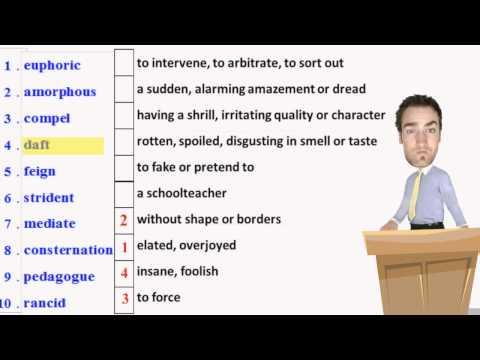 Advanced High School and College Vocabulary Development
