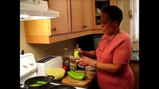 Jamaican Recipes: Boiled Green Bananas and Dumplings Video