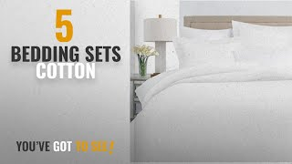 Top 10 Bedding Sets Cotton [2018]: Italian Luxury 100% Long-Staple Combed Cotton Duvet Cover Set -