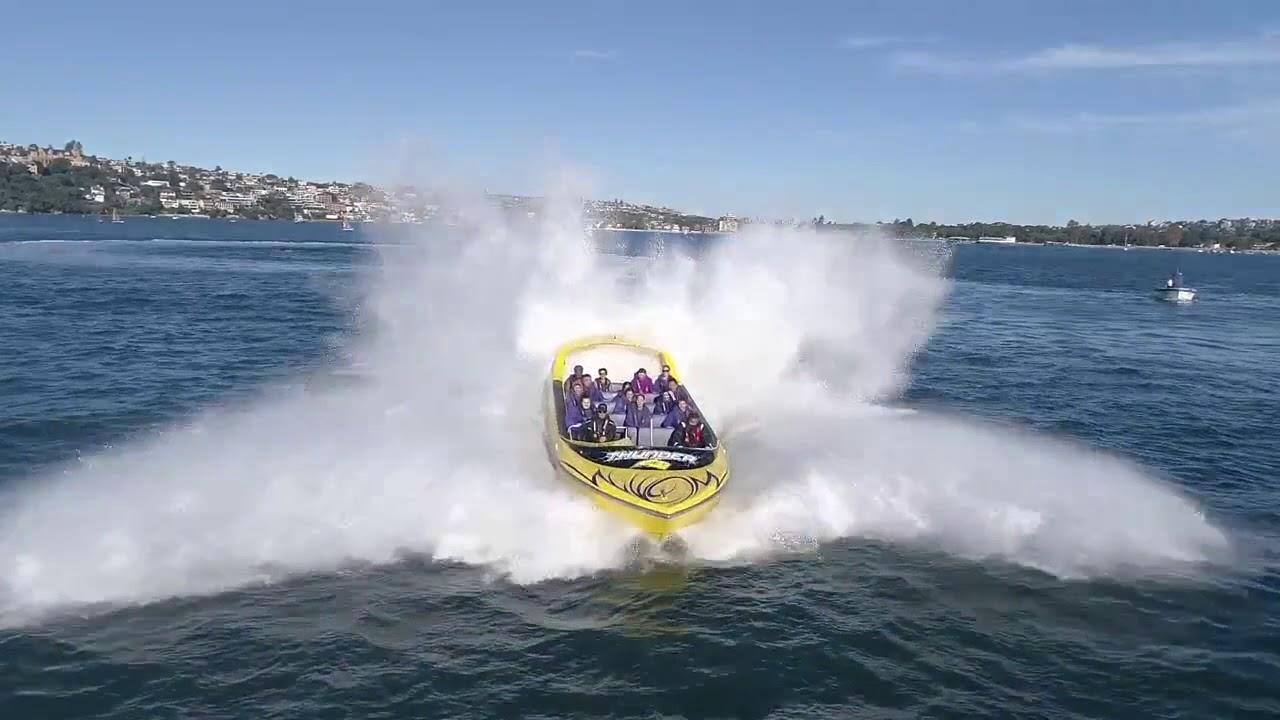 video Sydney Harbour Jet Boat Thrill Ride
