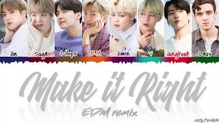 Gambar cover BTS - 'MAKE IT RIGHT' (EDM Remix) feat LAUV Lyrics [Color Coded_Han_Rom_Eng]