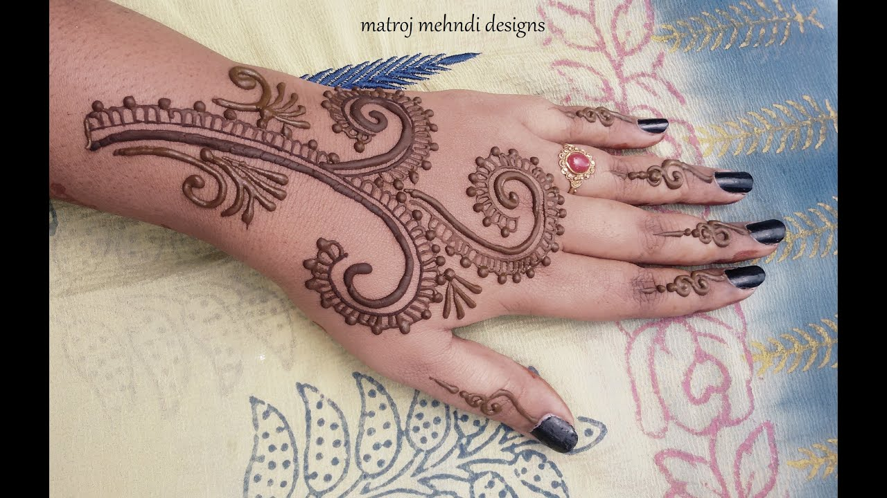 Mehndi Designs Learning Hands : Simple easy mehndi designs for hands henna tutorials
