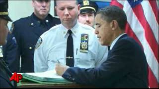 Raw Video: Obama 'Proud' of NYPD Officers