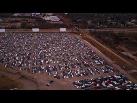 "Volkswagen ""Buyback""  staging area filmed in 4K"