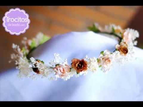 Coronas de flores trocitos de boda youtube - Coronas de flore ...