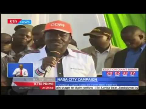 NASA leader Raila Odinga claims Jubilee is using the Interior Ministry docket to manipulate IEBC