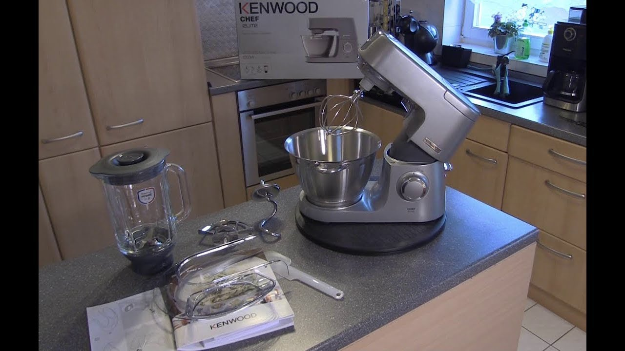 Kenwood Chef Elite Kvc 5320s Kuchenmaschine Test Youtube