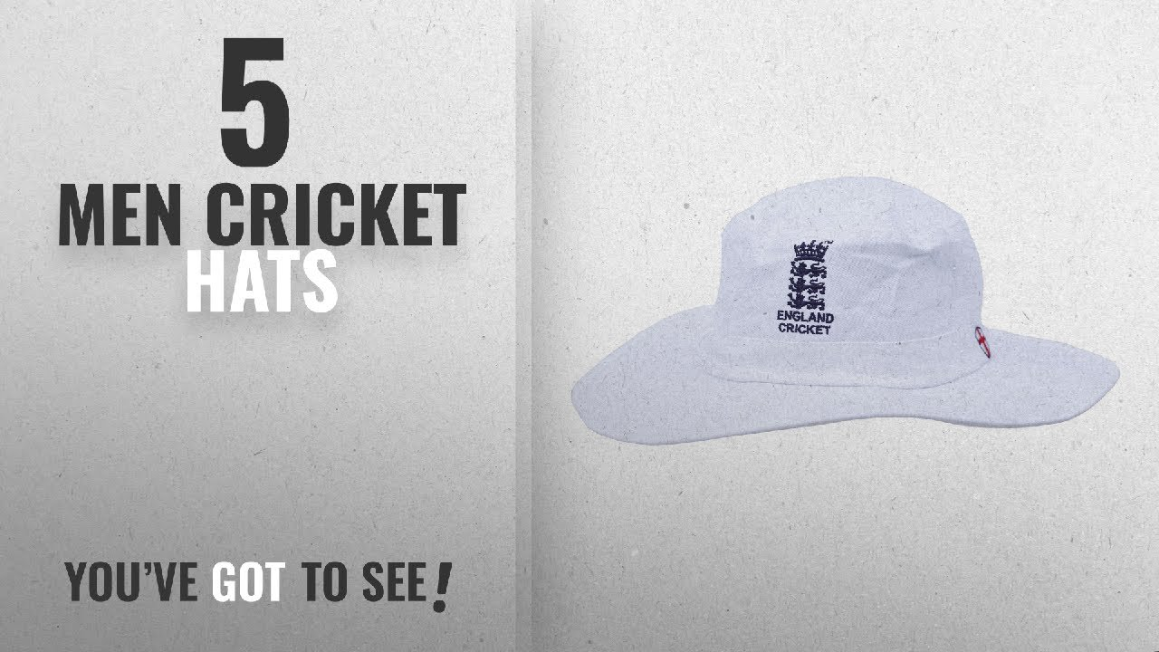 6890d7ee383 Top 10 Men Cricket Hats  2018   HIGH QUALITY MENS LARGE XL WHITE CRICKET  SUNHAT WITH ENGLAND LOGO