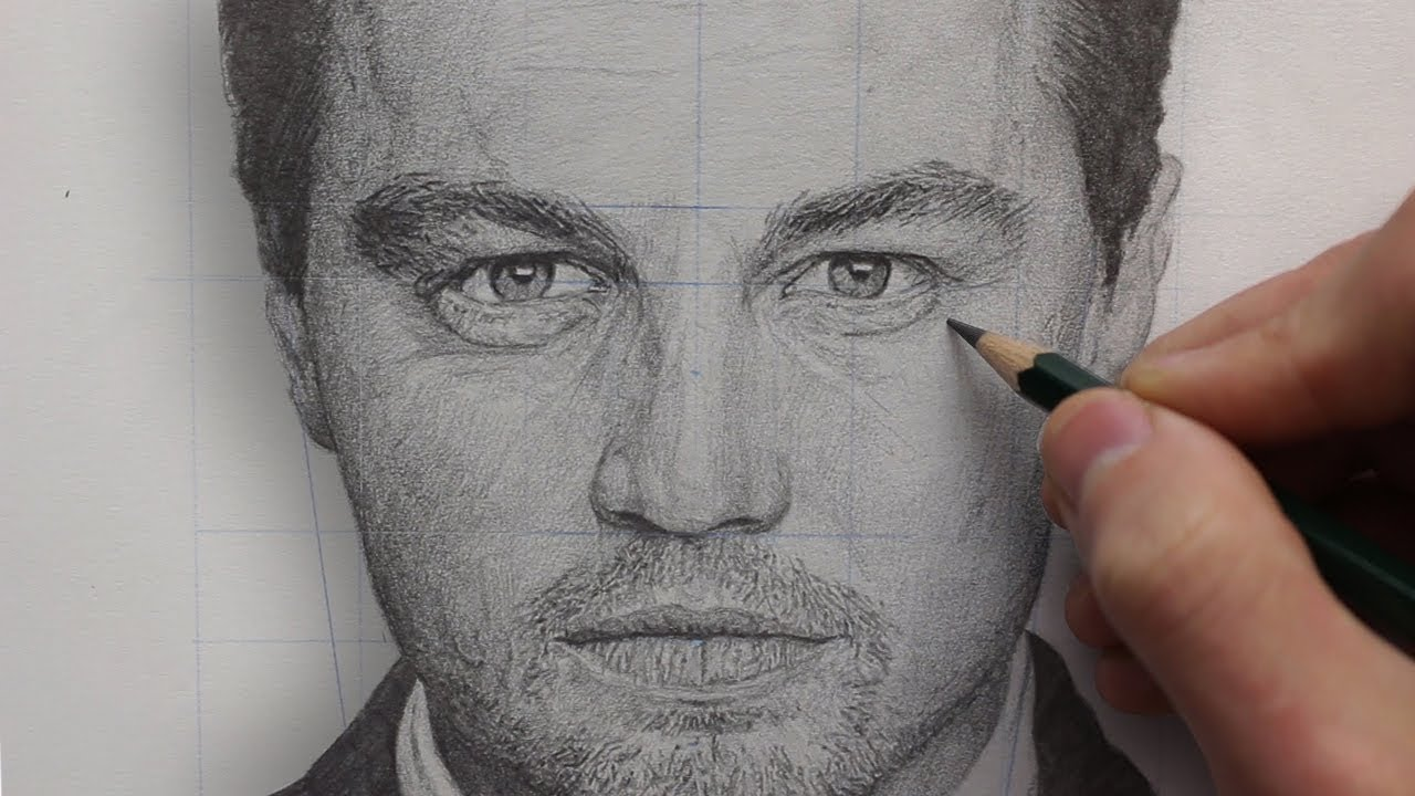 How To REALISTICALLY Render & DRAW a PORTRAIT using PENCIL ...